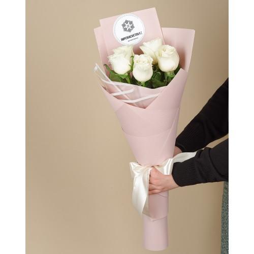 Купить на заказ Заказать Букет из 5 роз с доставкой по Кызылорде с доставкой в Кызылорде